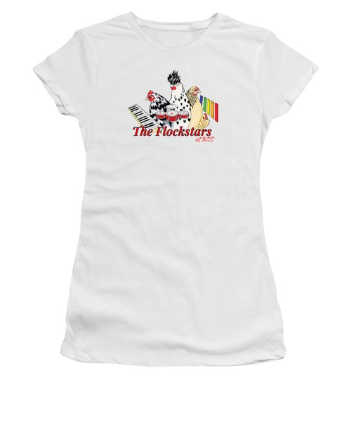 The Flockstars Women's T-Shirt (Junior Cut) by Sarah Rosedahl
