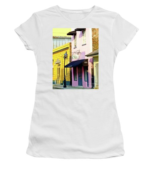 The French Quarter Wedding Chapel Women's T-Shirt (Athletic Fit)
