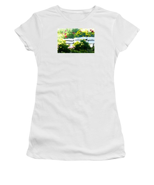 The Garden Wall Women's T-Shirt (Junior Cut) by David Blank