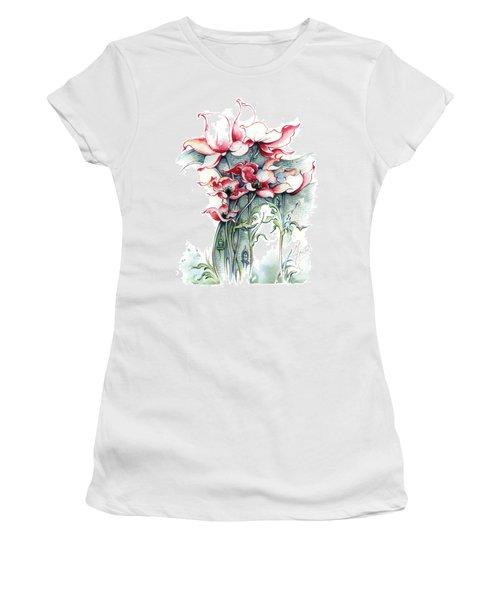 Women's T-Shirt (Junior Cut) featuring the painting The Gateway To Imagination by Anna Ewa Miarczynska