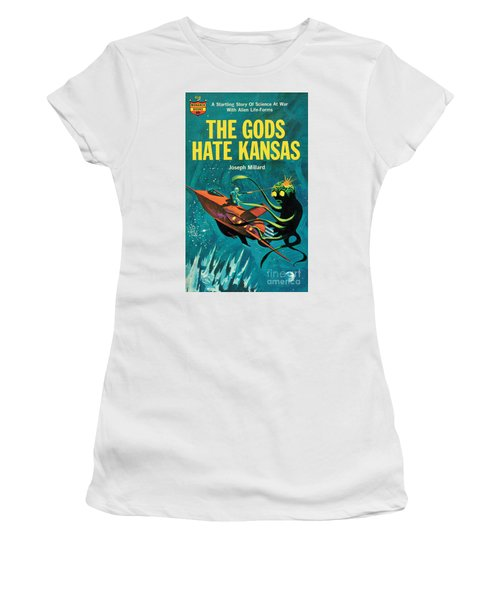 The Gods Hate Kansas Women's T-Shirt (Junior Cut) by Jack Thurston