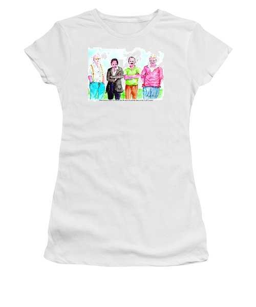 The Golf Course, A Place For Solving Problems Women's T-Shirt (Athletic Fit)