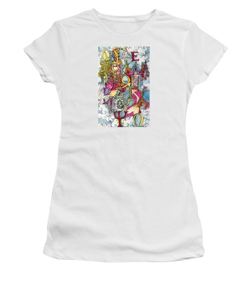 The Greek Alphabet Women's T-Shirt (Junior Cut) by Claudia Cole Meek