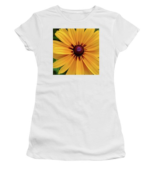 Women's T-Shirt (Athletic Fit) featuring the photograph The Heart Of A Flower by Monte Stevens