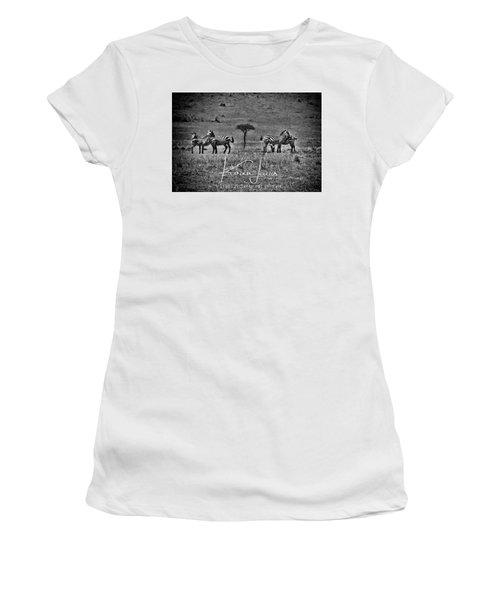 Women's T-Shirt (Junior Cut) featuring the photograph The Herd by Karen Lewis