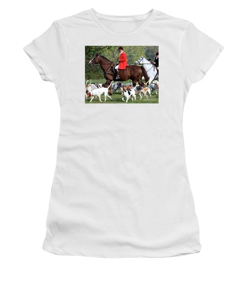 Women's T-Shirt (Junior Cut) featuring the photograph The Hunt Is On by Polly Peacock
