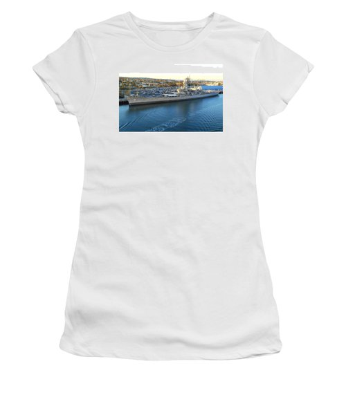 Women's T-Shirt (Junior Cut) featuring the photograph The Iowa At Sunset by Joe Kozlowski