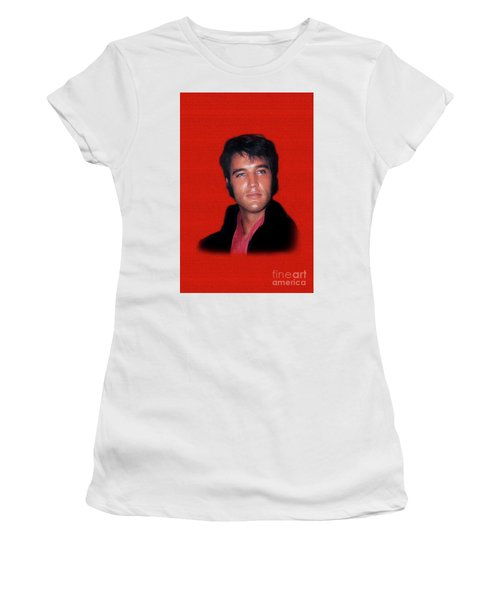 The King Rocks On L Women's T-Shirt (Athletic Fit)