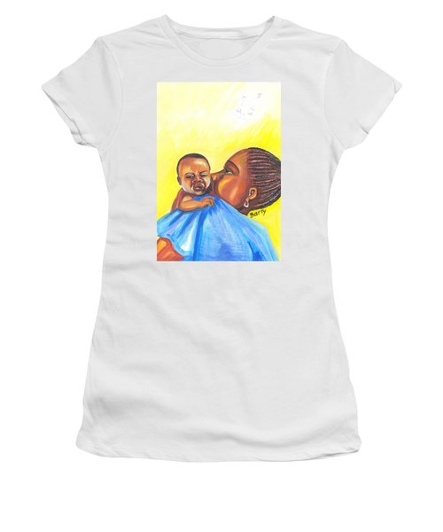 The Kiss Of A Mother In Senegal Women's T-Shirt (Athletic Fit)
