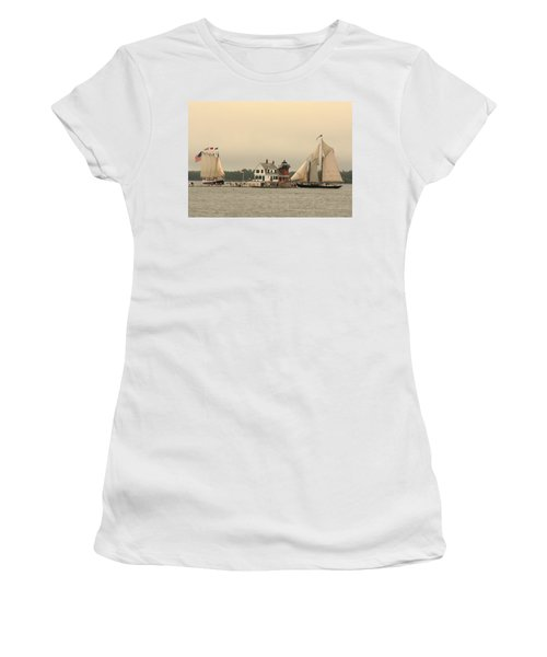 The Lighthouse At Rockland Women's T-Shirt (Athletic Fit)