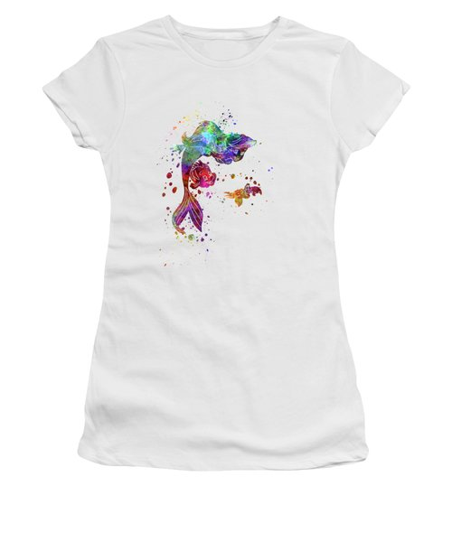 The Little Mermaid Watercolor Art Women's T-Shirt (Athletic Fit)