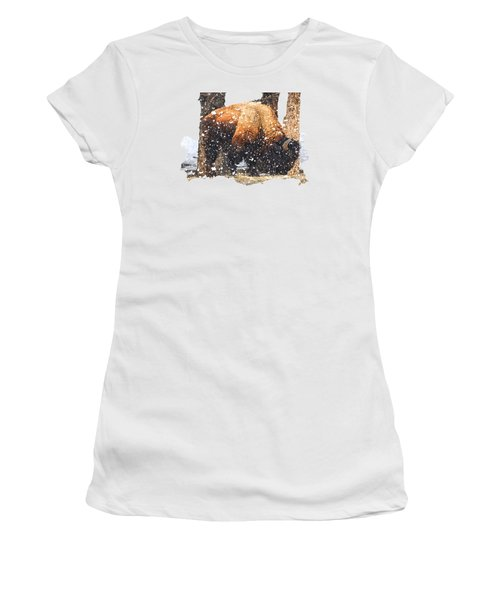 The Majestic Bison Women's T-Shirt (Athletic Fit)