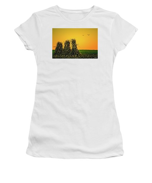 The Migration Of Summer Women's T-Shirt (Junior Cut) by Skip Tribby
