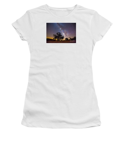 The Milky Way And Perseids Women's T-Shirt (Athletic Fit)