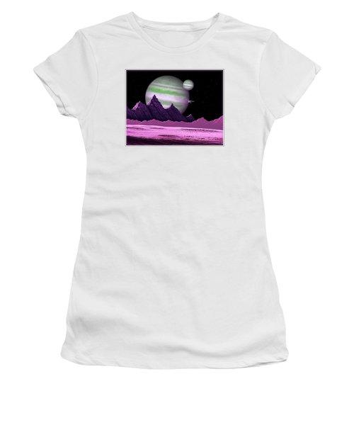The Moons Of Meepzor Women's T-Shirt (Junior Cut) by Scott Ross