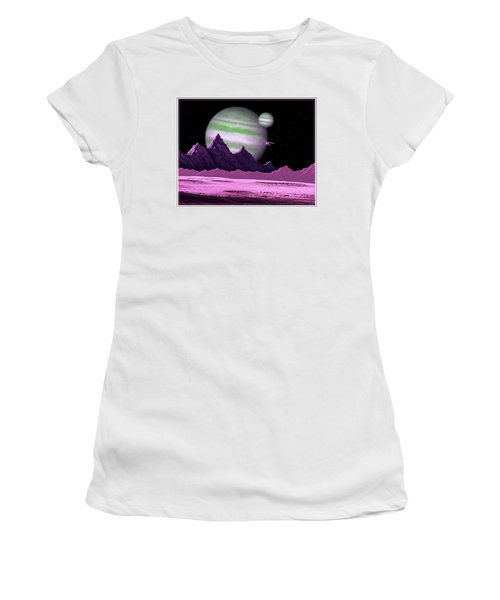 The Moons Of Meepzor Women's T-Shirt (Athletic Fit)