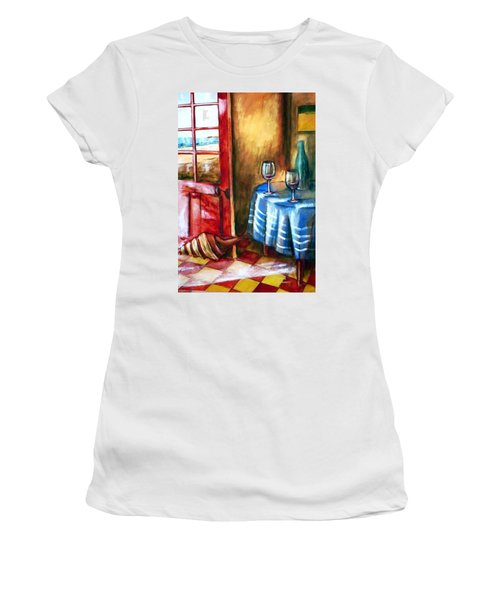 The Mystery Room Women's T-Shirt (Junior Cut) by Winsome Gunning