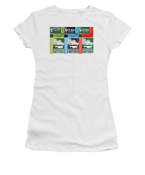 The National Limited Collage Women's T-Shirt (Athletic Fit)
