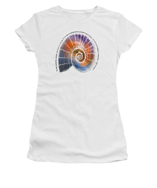 The Nautilus Shell Transparent -  Quote Women's T-Shirt (Athletic Fit)