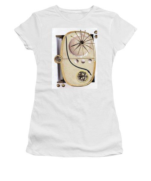 Women's T-Shirt (Junior Cut) featuring the painting The Navigator by Michal Mitak Mahgerefteh