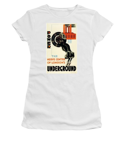 The Nerve Centre Of London's Underground - Retro Travel Poster - Vintage Poster Women's T-Shirt