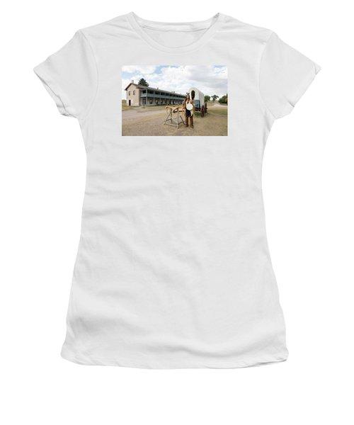 The Old Cavalry Barracks At Fort Laramie National Historic Site Women's T-Shirt (Junior Cut) by Carol M Highsmith