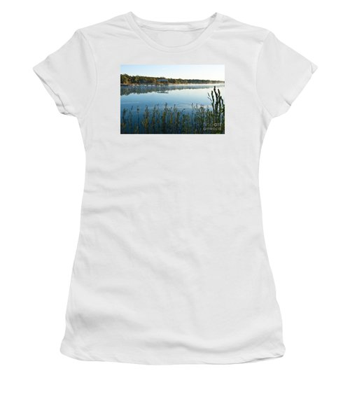 Women's T-Shirt (Junior Cut) featuring the photograph The Old Fishing Pier by Tamyra Ayles