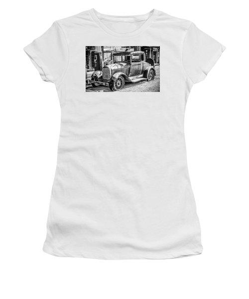 The Old Model Women's T-Shirt (Junior Cut) by Marius Sipa
