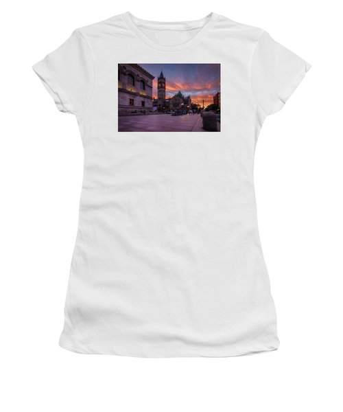 The Old South Church At Sunset Women's T-Shirt