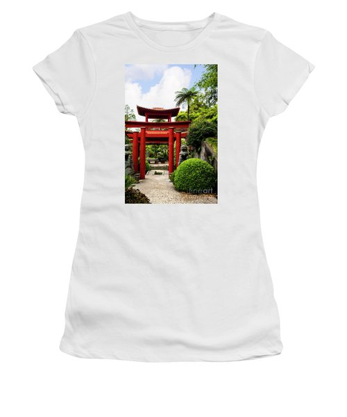 The Oriental Gate To Happiness Women's T-Shirt