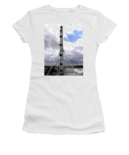 Women's T-Shirt (Junior Cut) featuring the photograph The Orlando Eye 003 by Chris Mercer