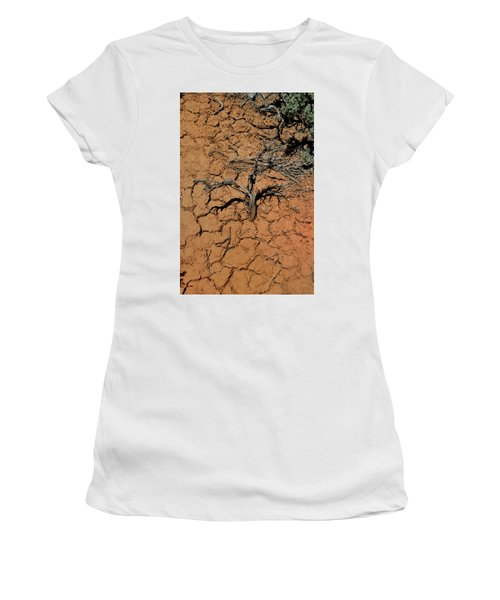 Women's T-Shirt featuring the photograph The Parched Earth by Ron Cline