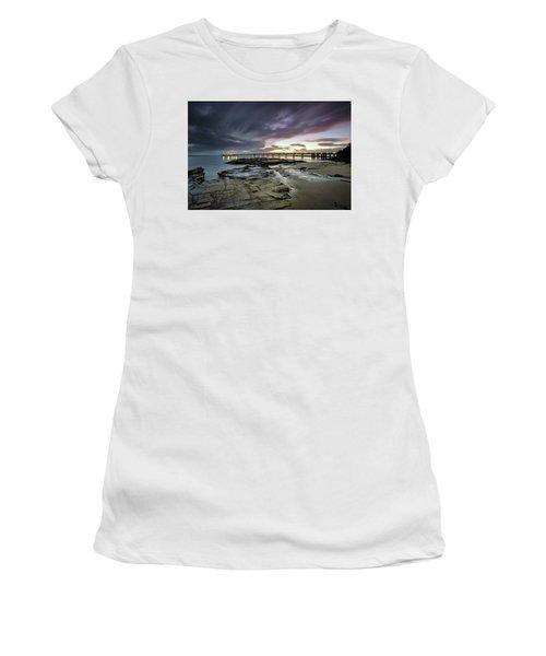 The Pier @ Lorne Women's T-Shirt (Junior Cut) by Mark Lucey