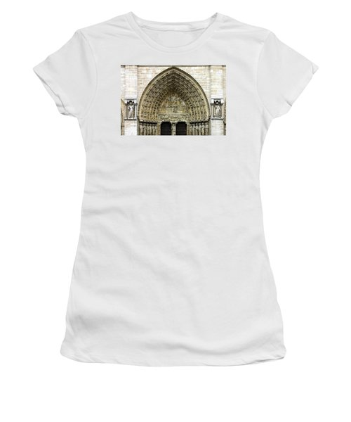 The Portal Of The Last Judgement Of Notre Dame De Paris Women's T-Shirt