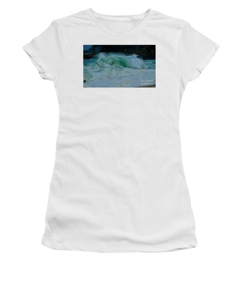 The Power Of Waves Women's T-Shirt (Athletic Fit)