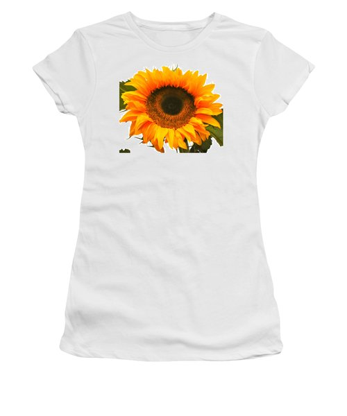 The Prettiest Sunflower Women's T-Shirt (Athletic Fit)