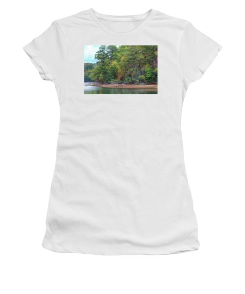 Women's T-Shirt (Athletic Fit) featuring the photograph The Radiant Shore by John M Bailey