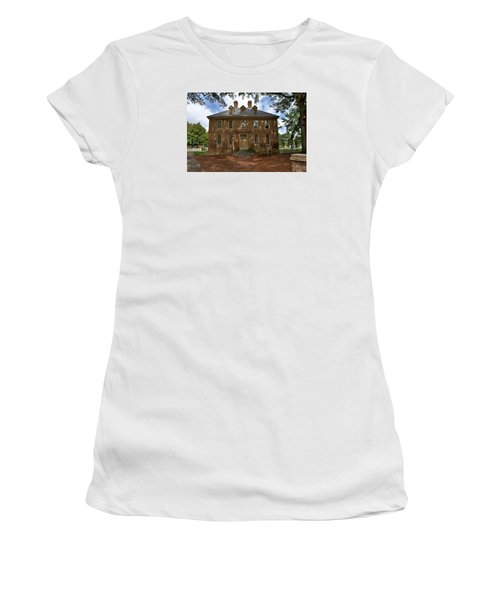 Women's T-Shirt (Junior Cut) featuring the photograph The Restored Brafferton by Jerry Gammon