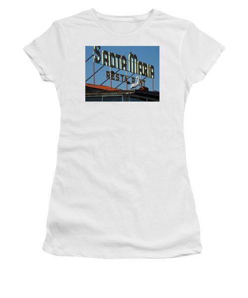 Women's T-Shirt (Junior Cut) featuring the photograph The Santa Maria by Rod Seel