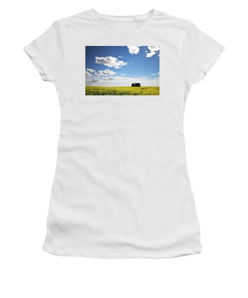 The Saskatchewan Prairies II Women's T-Shirt (Junior Cut) by Ryan Crouse