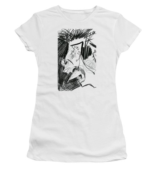 Women's T-Shirt (Junior Cut) featuring the drawing The Scream - Picasso Study by Michelle Calkins