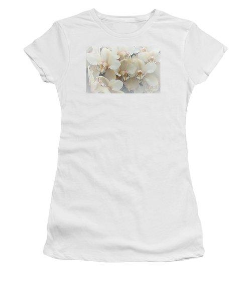 The Secret To Orchids Women's T-Shirt (Junior Cut) by Sherry Hallemeier