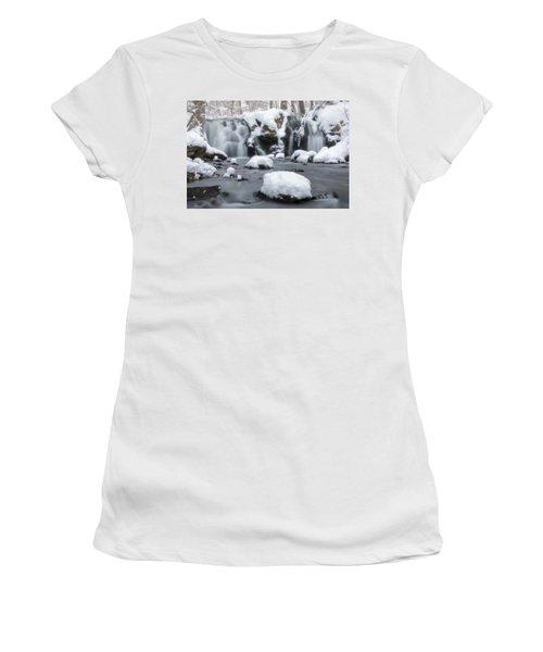 The Secret Waterfall In Winter 1 Women's T-Shirt
