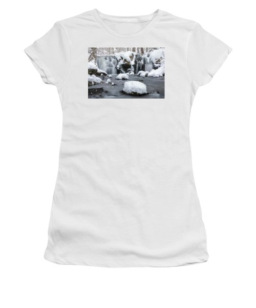 The Secret Waterfall In Winter 1 Women's T-Shirt