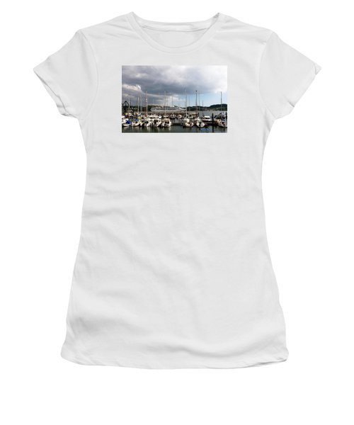 Women's T-Shirt featuring the photograph Ship Comes In To Belem by Lorraine Devon Wilke