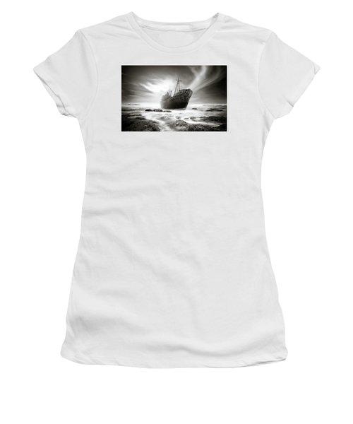 The Shipwreck Women's T-Shirt (Junior Cut) by Marius Sipa