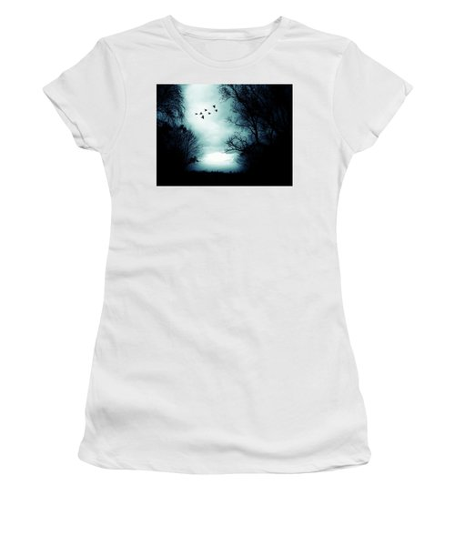 The Skies Hold Many Secrets Known Only To A Few Women's T-Shirt (Junior Cut) by Michele Carter