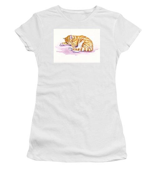 The Sleepy Kitten Women's T-Shirt (Athletic Fit)