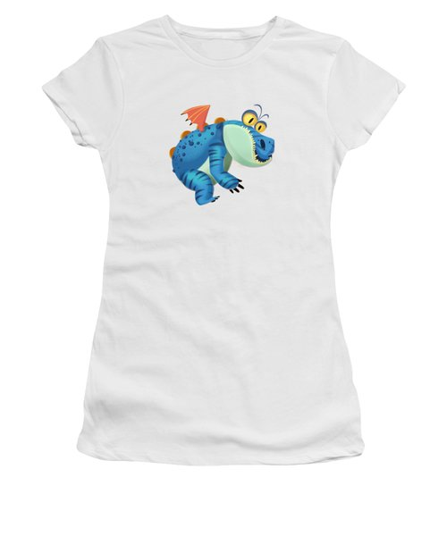 The Sloth Dragon Monster Women's T-Shirt (Athletic Fit)