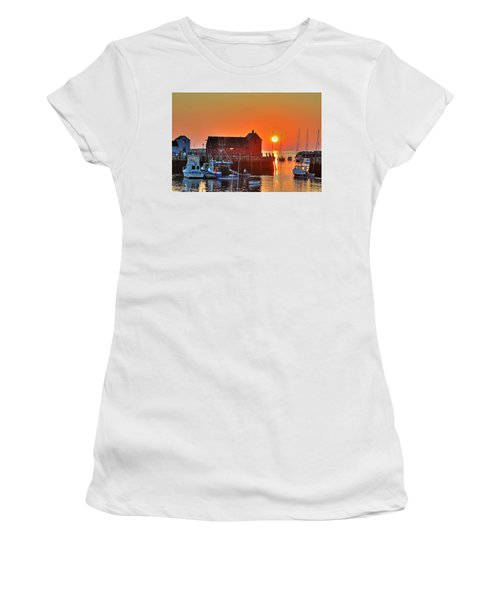 The Sun Rising By Motif Number 1 In Rockport Ma Bearskin Neck Women's T-Shirt